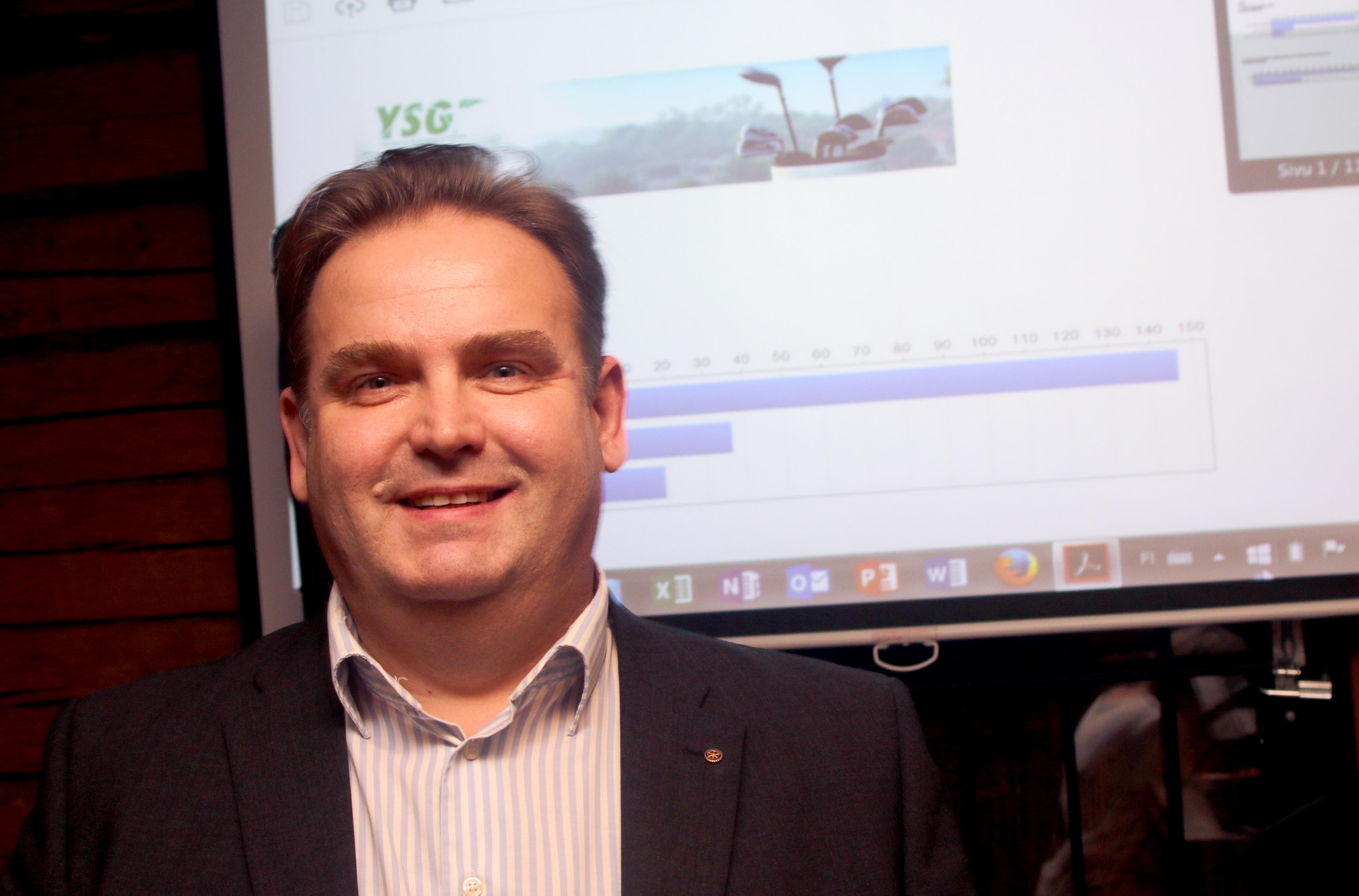 Kari Puumalainen valittiin lauantai-iltana Ylä-Savon Golfseuran puheenjohtajaksi.